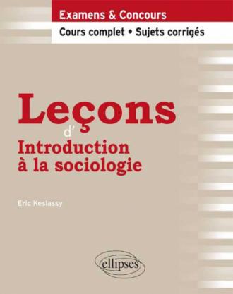 Leçons d'Introduction à la sociologie