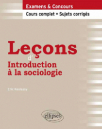 Leçons d'Introduction à la sociologie