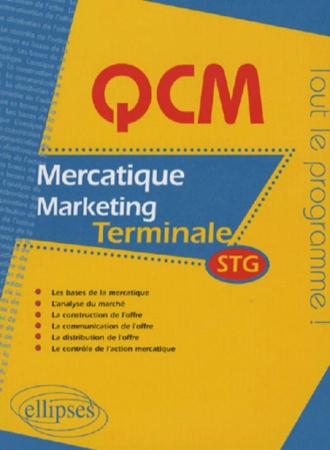 QCM mercatique - marketing - Terminale STG