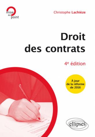 Droit des contrats - 4e édition