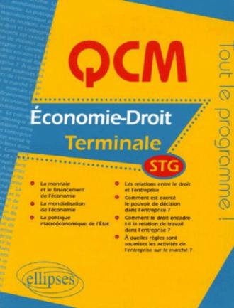 QCM économie-droit - Terminale STG