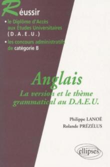 Anglais - La version et le thème grammatical