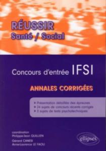 Concours d'entrée  IFSI - Annales corrigées