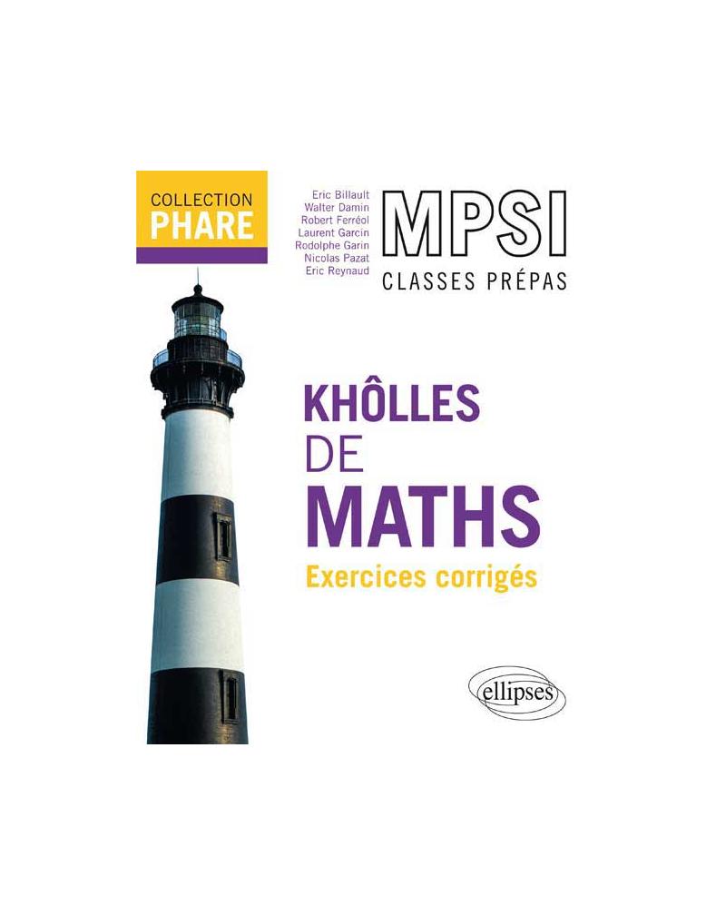 Khôlles de maths MPSI - Exercices corrigés