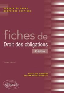 Fiches de droit des obligations 4ème édition