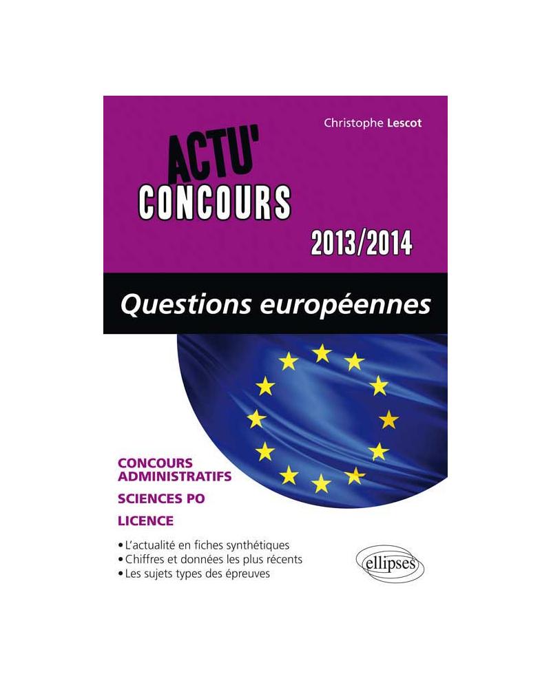 Questions Européennes 2013-2014