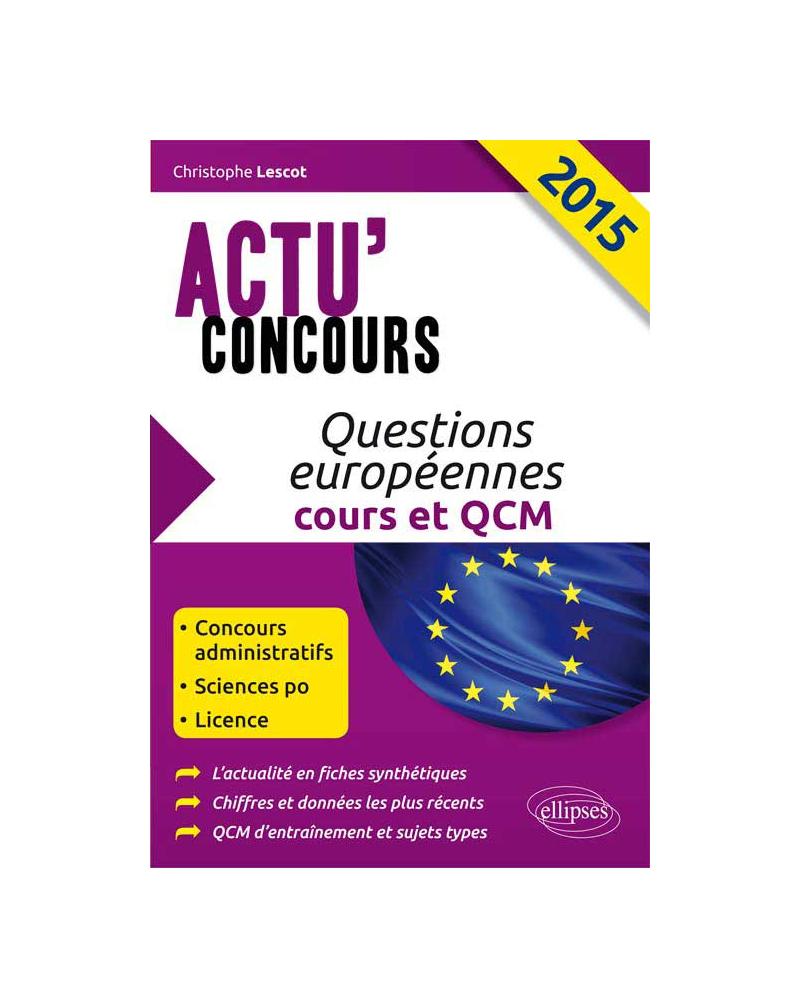Questions européennes 2015 (cours et QCM)