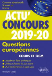 Questions européennes - concours 2019-2020