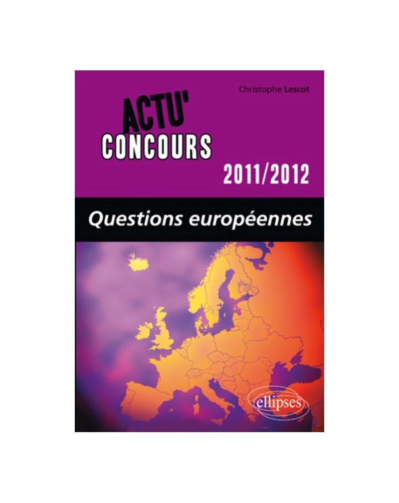 Questions européennes - 2011-2012
