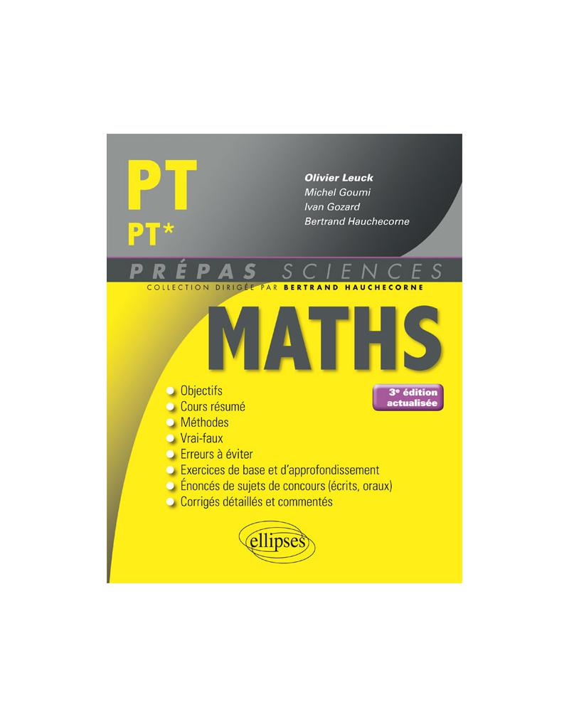 Mathématiques PT/PT* - 3e édition actualisée