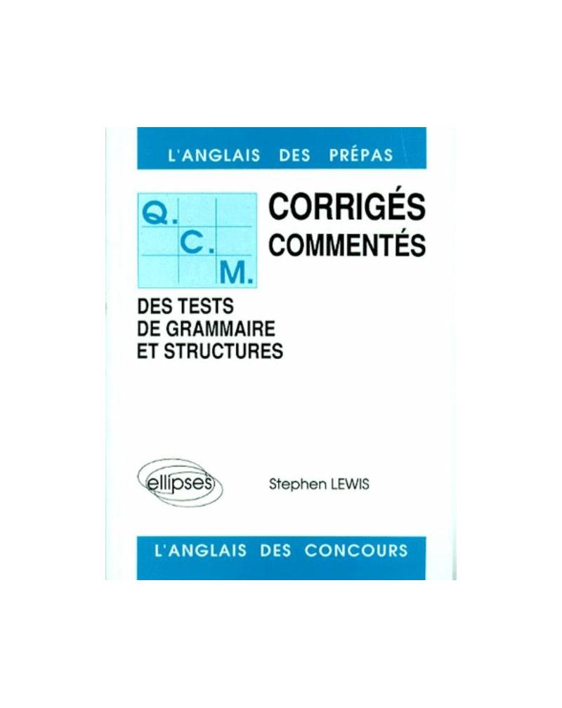 QCM de grammaire et structures 84/88 - Tome 1