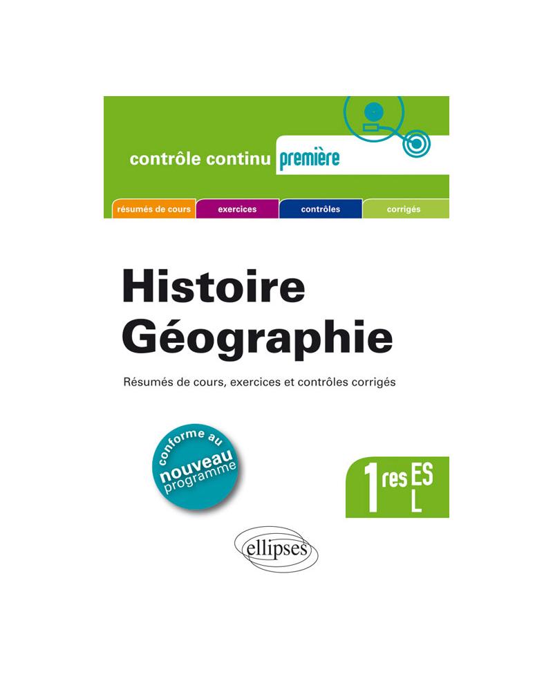 Histoire-Géographie - Premières L et ES - nouveau programme