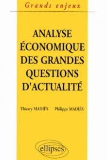 Analyse économique des grandes questions d'actualité