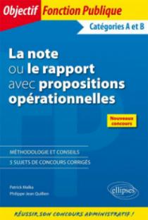 La note ou le rapport avec propositions opérationnelles