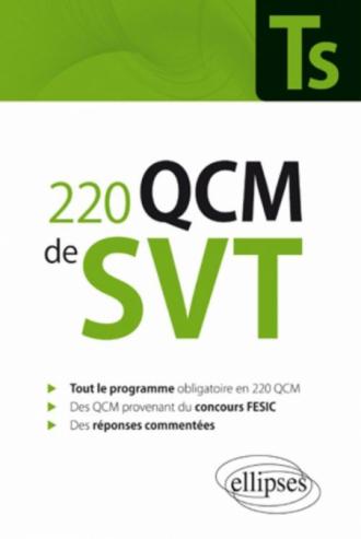 220 QCM de SVT Terminale S et concours Fesic - Enseignement obligatoire