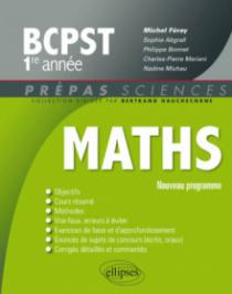 Mathématiques BCPST-1 programme 2013