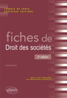Fiches de Droit des sociétés. 2e édition