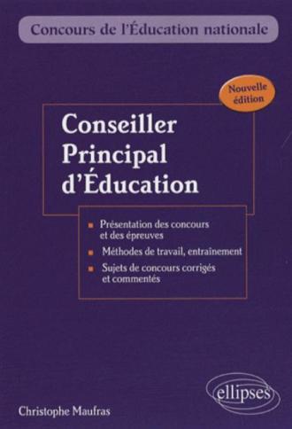 Conseiller principal d'éducation. Nouvelle édition