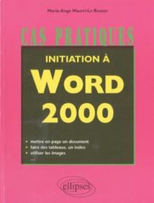 Initiation à Word 2000