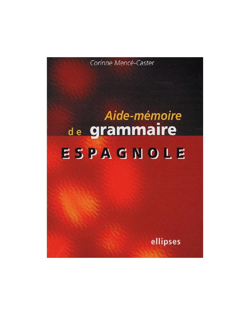 Aide-mémoire de grammaire espagnole