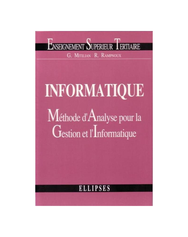 Informatique : méthode d'analyse pour la gestion et l'informatique