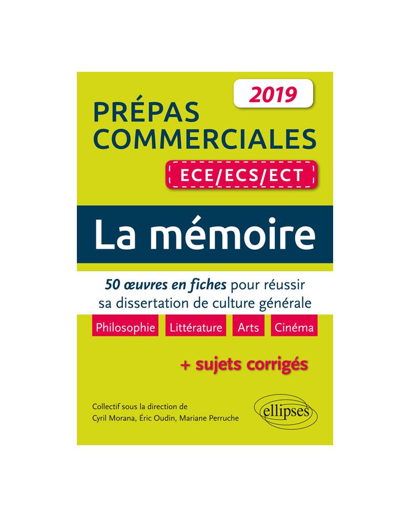 Thème de culture générale. 50 oeuves en fiches pour réussir sa dissertation. Prépas commerciales ECE / ECS / ECT 2019