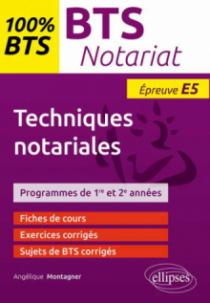 BTS Notariat - Epreuve de techniques notariales (E5/U5)