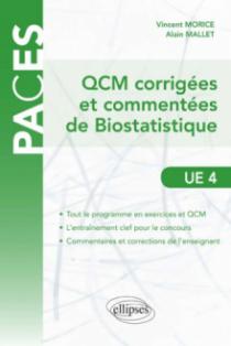 QCM commentées et corrigées de Biostatistique - UE4