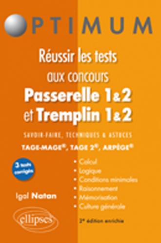 Réussir les tests aux concours Passerelle 1&2 / Tremplin 1&2 - 2e éd