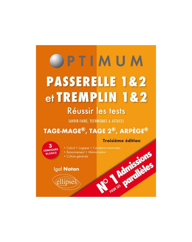 Réussir les tests aux concours Passerelle 1&2 et Tremplin 1&2 - 3e édition
