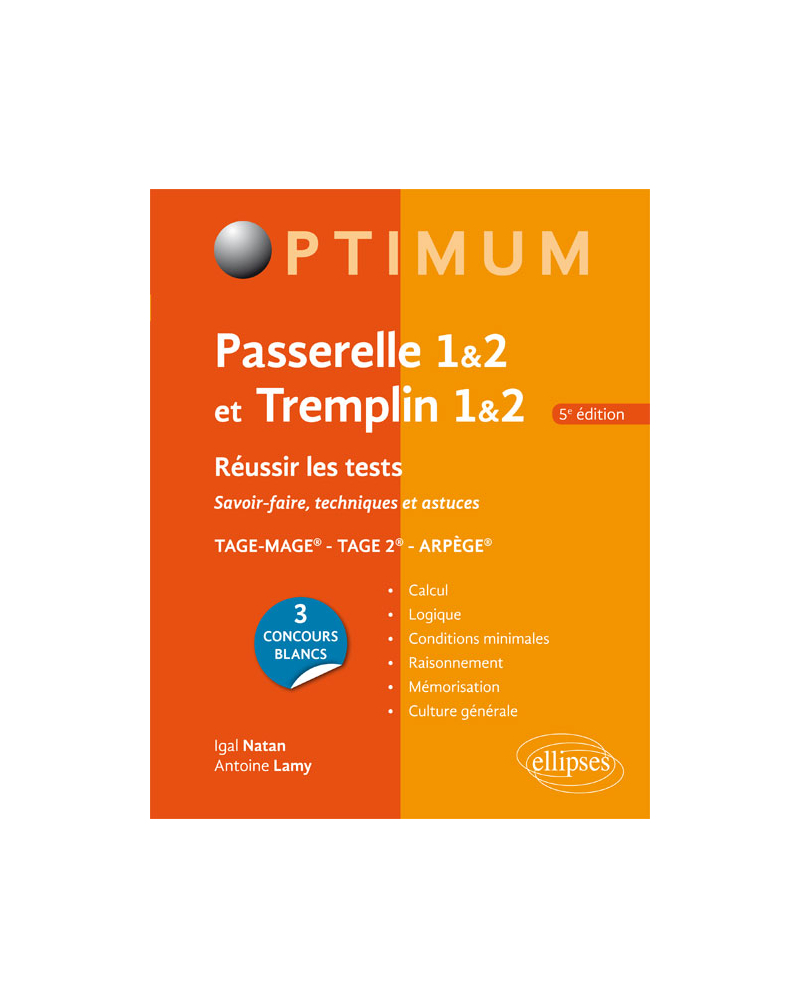 Réussir les tests aux concours Passerelle 1&2 et Tremplin 1&2 – 5e édition
