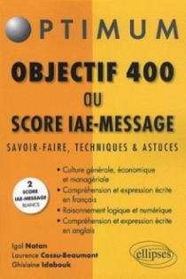 Objectif 400 au Score IAE-Message