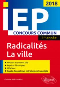 Concours commun IEP 2018. 1re année. Synthèse sur les deux thèmes - Radicalités / La ville