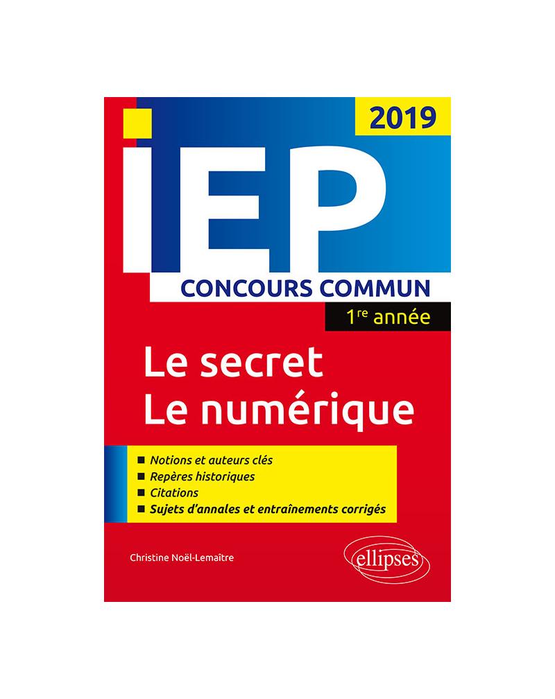 Concours commun IEP 2019. 1re année. Synthèse sur les deux thèmes