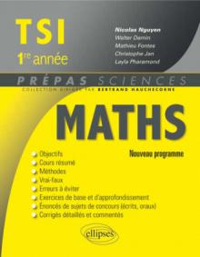 Mathématiques TSI-1 programme 2013
