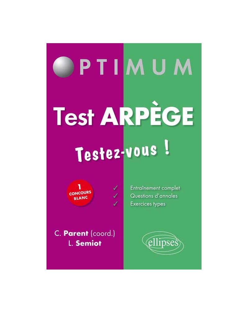 Test Arpège : testez-vous !