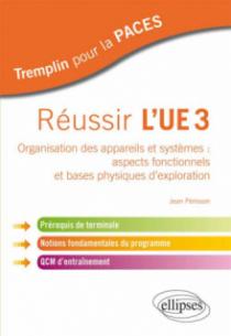 Réussir l'UE3. Organisation des appareils et systèmes : aspects fonctionnels et bases physiques d'exploration. Prérequis de terminale, notions fondamentales du programme, QCM d'entraînement
