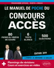 Le Manuel de Poche du concours ACCÈS - 80 fiches de cours, 80 vidéos de cours, 6 tests blancs, 500 questions