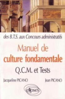 Manuel de Culture fondamentale - QCM, exos, tests - BTS-DUT