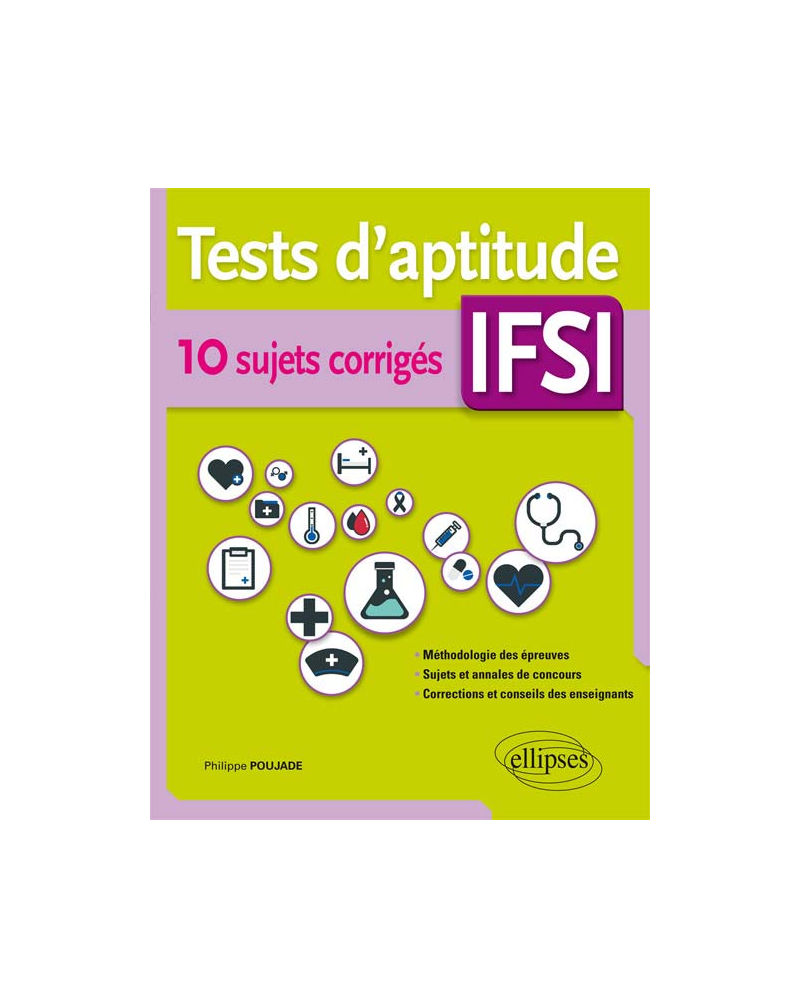Tests d'aptitude IFSI – 10 sujets corrigés