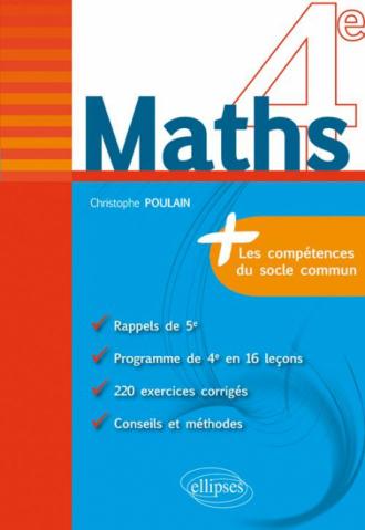 Maths 4e - fiches de rappel + exercices corrigés