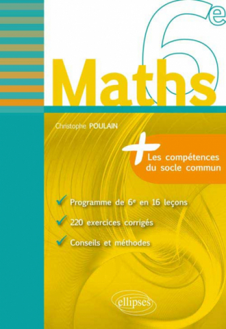 Maths 6e - fiches de rappel + exercices corrigés