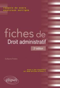 Fiches de Droit administratif, 2e édition