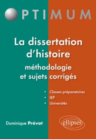 Cours de dissertation historique