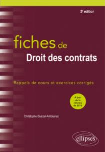 Fiches de Droit des contrats - 2e édition