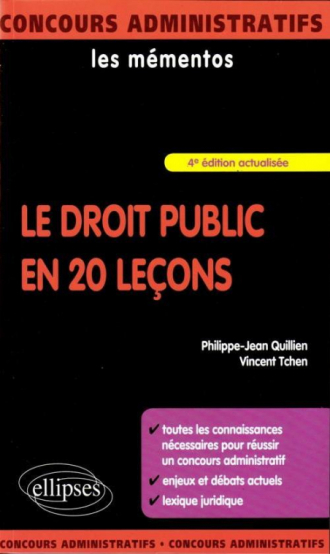 Le droit public en 20 leçons - 4e édition