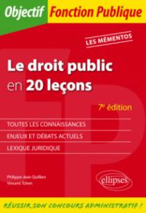 Le droit public en 20 leçons - 7e édition