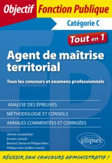 Agent de maîtrise territorial. Concours et examens professionnels - Catégorie C