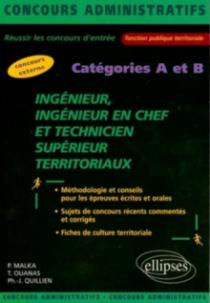 Ingénieur, ingénieur en chef et technicien supérieur territoriaux, Catégorie A et B