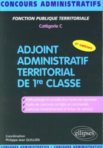 Adjoint administratif territorial - 3e édition